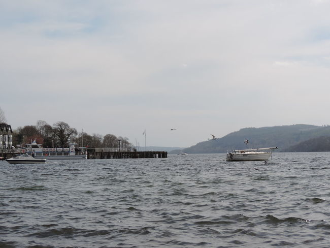 A low down shot of the lake with the water starting to swell before a rainstorm Calm Clouds Lake Windermere Nature Outdoors Ripple Effect Tranquil Scene Tranquility Water