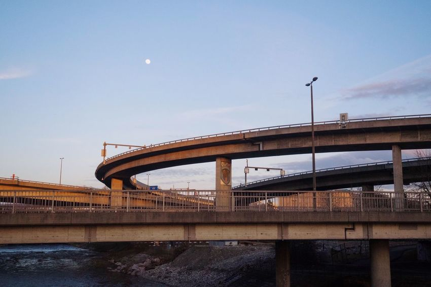 Highway Road Built Structure Bridge Connection Bridge - Man Made Structure Sky Architecture Transportation Nature Rail Transportation Engineering Water Moon River City Travel Travel Destinations Outdoors Adventures In The City