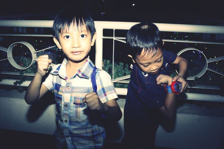 Child Boys Two