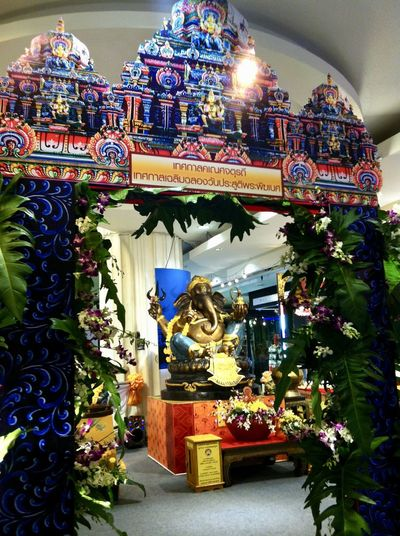 worship place of Lord Ganesha, the deva of intellect, wisdom and success, in Ganesh Chaturthi Festival. Color Of Festivals Ganesh Ganesha Ganesha Chaturthi Worship Architecture Art And Craft Building Exterior Built Structure Colorful Day Holy Human Representation Indoors  No People Place Of Worship Religion Sculpture Spirituality Statue Statue Of God