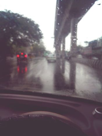 On The Road Raindrops On My Window Taking Pics While Driving Driving To College Listening To Music James Blunt  Drizzling Cool Climate Enjoying Nature Alone And Happy