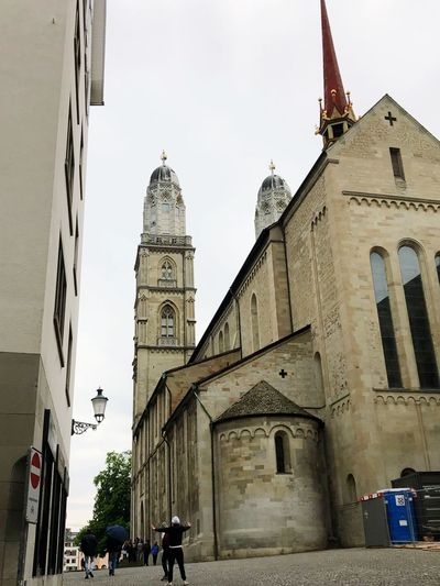 Grossmünster Zürich Architecture Religion Place Of Worship Building Exterior Built Structure Belief Spirituality Sky The Past Day Real People