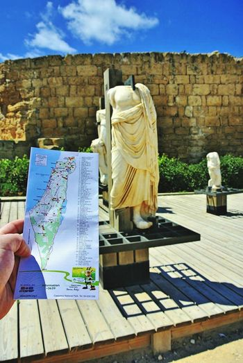 I visit Caesarea... Herodote King... Caesarea Antique Israel Israelinstagram Antiquity History Historical Sights Historical Monuments Anphitheater Roman Anphitheater
