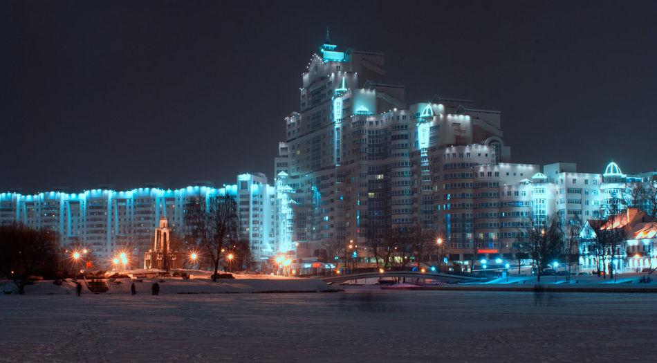 Architecture City Nightphotography Nikon Winter Wintertime Landscape Monument