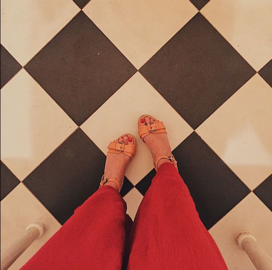 Legs standing on black and white tiles. Low Section Human Leg One Person Tiled Floor High Angle View Tiles Blackandwhite Black And White Black & White Flooring Floor Real People Indoors  Lifestyles One Woman Only Women Adults Only Adult Only Women People Close-up Day
