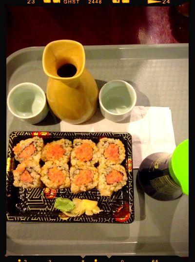 Sushi Lunch Time! Hot Sake Wasabi