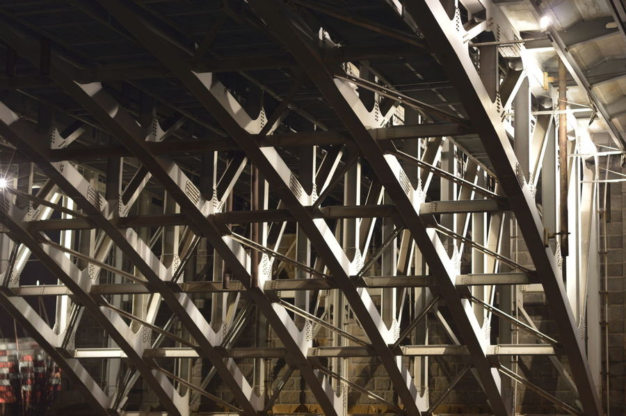 EyeEm Of The Week Architecture Built Structure Full Frame Low Angle View Backgrounds No People Girder City Illuminated