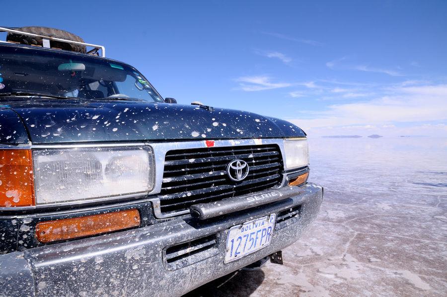 Sky Land Cruiser Car Uyuni Uyuni Salt Flat Bolivia Nature Nikon D300 Eyem Best Shots ウユニ塩湖 Car Land Cruiser