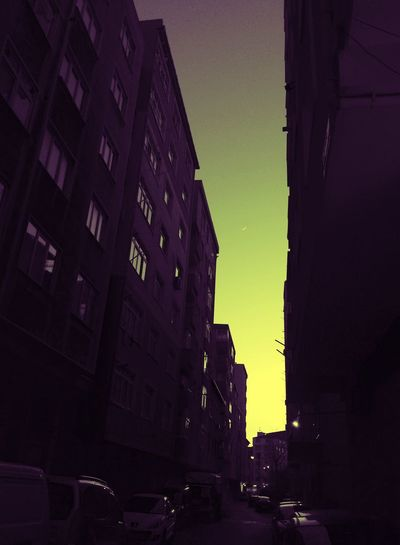 Sıradan Gunbatimi Sunset Moon