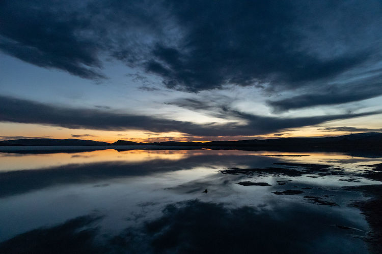Mongolia Sky Cloud - Sky Sunset Beauty In Nature Scenics - Nature Tranquility Water Tranquil Scene Idyllic No People Sea Reflection Nature Dramatic Sky Orange Color Silhouette Waterfront Non-urban Scene Outdoors