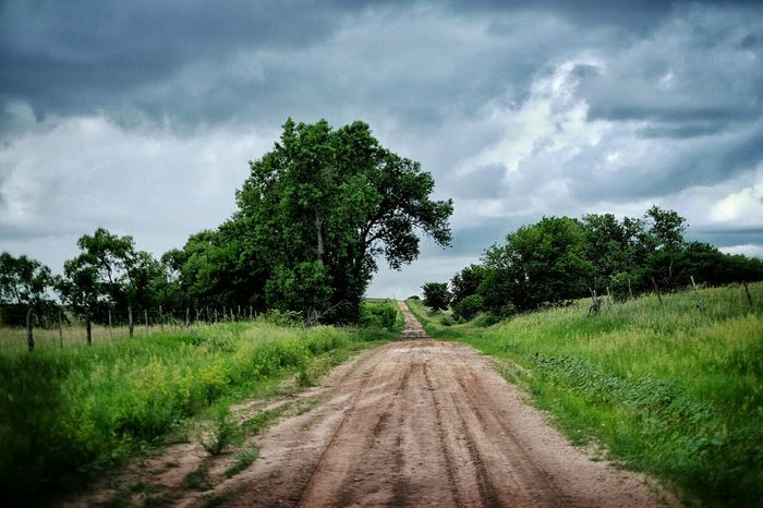 This road is rough going washed out by recent flooding and many large holes and rocks. Rural Exploration Dirtroads Rural America Color Photography Back Roads Polarizing Filter Rural Landscape Photography In The Middle Of Nowhere Nebraska