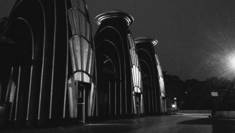 night scene at NTR Garden