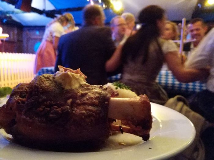 Oktoberfest Haxe Meat Pork Knuckle Pork Party Food Foodphotography Plate Close-up Food And Drink Sweet Food