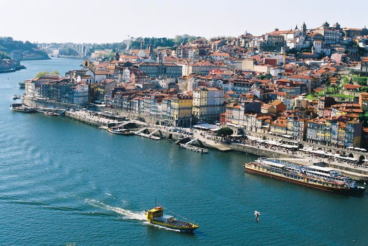 View of Porto at Luis bridge City Cityscape Portugal Porto Film Photography Film Filmcamera Filmisnotdead Istillshootfilm NikonFM2 Nikon Fm2 First Eyeem Photo Art Is Everywhere EyeEm Diversity