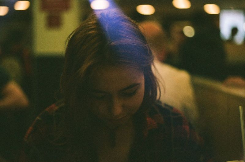 One Person Real People Night Young Women Women People Illuminated Indoors  Adults Only Close-up One Woman Only Young Adult Adult Clown Only Women Film Photography Camera Zenit-E