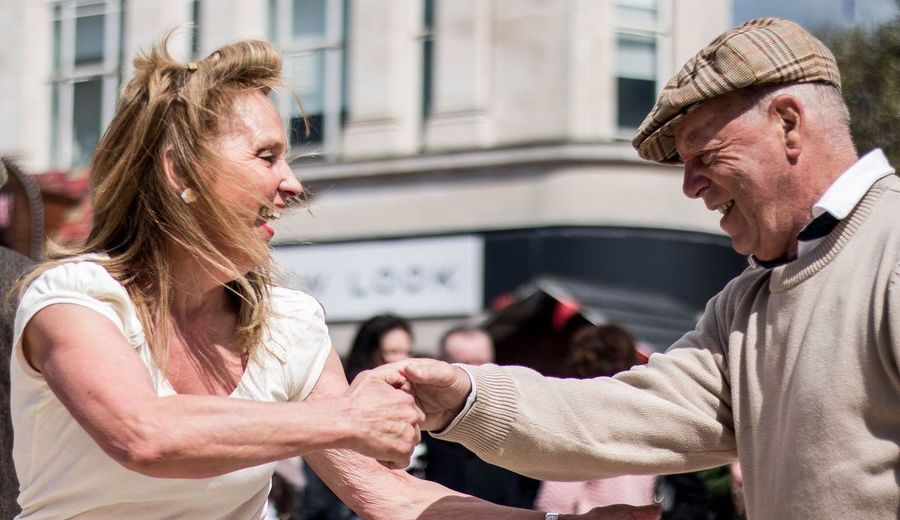 Candid Candid Photography Dancing Streetphotography Street Dancers Elderly Happy Couple Joy Joyful Sunny