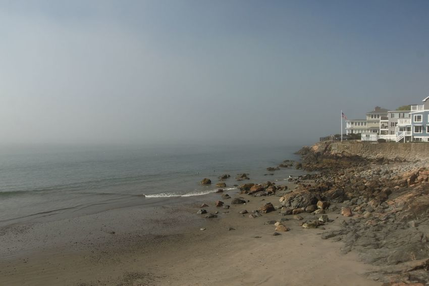 Foggy Day Sea Land Water Beach Sky Sand Horizon Over Water