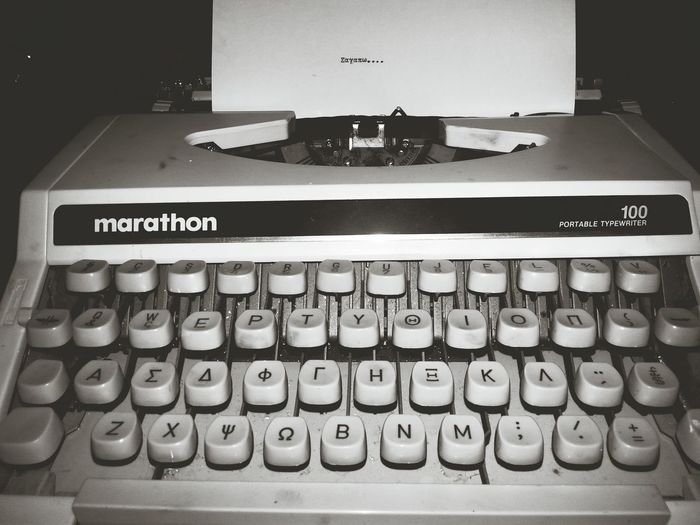 Old Time Classics P.s I Love You❤ Typewriter Black & White