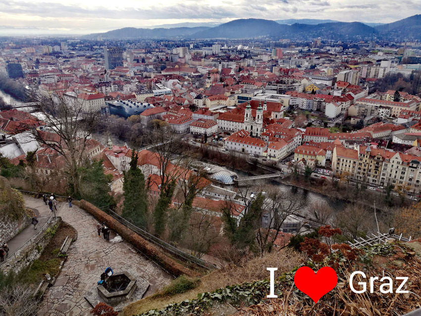 Graz Architecture Built Structure Building Exterior City High Angle View Mountain Residential District Building Nature Day Crowd Cityscape Crowded Town Tree Outdoors Transportation Plant Community TOWNSCAPE Graz Austria Graz Panoram EyeEmNewHere