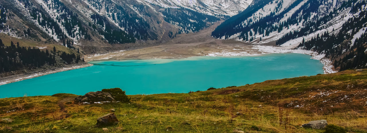 Almaty Beauty In Nature Day Kazakhstan Lake Landscape Mountain Nature No People Outdoors Physical Geography Scenics Tranquil Scene Tranquility Water The Great Outdoors - 2017 EyeEm Awards AlmatyMyFirstLove Almaty, Kazakhstan Lake View Lakeshore Kaxakhstan Lakeview Mountain Range