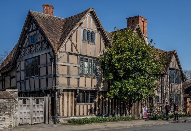 Architecture Building Building Exterior Built Structure Clear Sky Day England English Town Façade Halls Croft Historical Building Historical Sights History Low Angle View Old Outdoors Residential Building Residential Structure Shakespeare Shakespears Daughter Stratford-upon-Avon Sunlight Window
