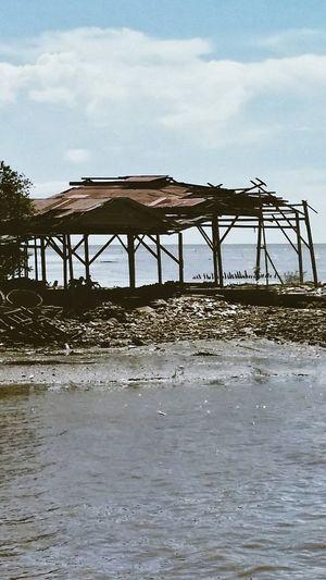 Sekinchan, Malaysia Shelter Structure Blue Skies