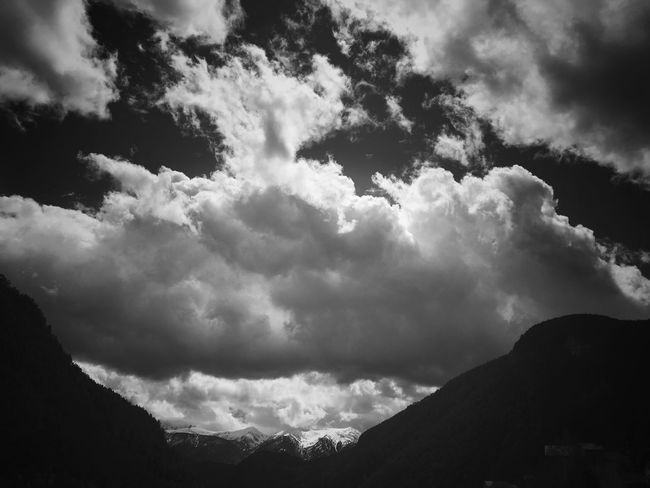 Where I live you can touch the sky Blackandwhite Landscape_Collection Black And White Bw_collection
