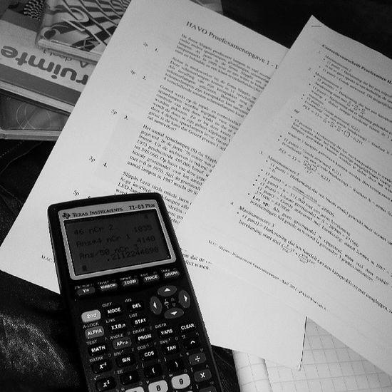 again stuDying voor me Wisk examm Boring
