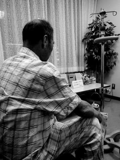 Facethemusic Itiswhatitis Tokyo Night Treatment Snapshot Snap PortraitPhotography Portrait Monochrome Blackandwhite Nikonphotography Nikon Rear View Alone Oldman Hospital Sick Godfather Grandpa Sitting Indoors  One Man Only Senior Adult One Person Adult People Press For Progress EyeEmNewHere This Is Aging