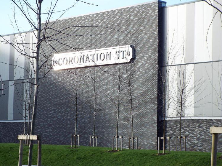 ITV Television Studios Coronation Street studio building Media City Salford Salford Quays Salford United Kingdom