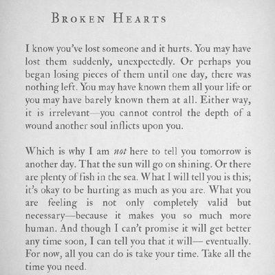 ? read a broken heart stories??