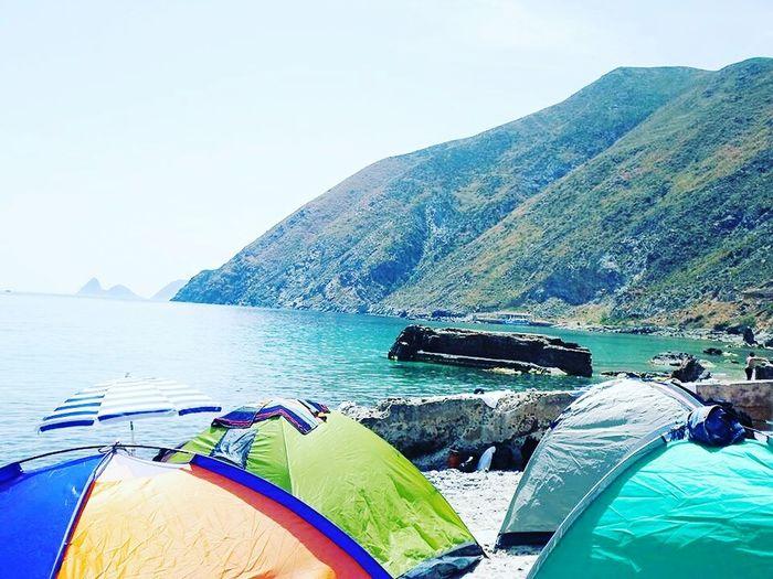 Camping Trip Hello World Natural Beauty Enjoying Life by biba chrayti