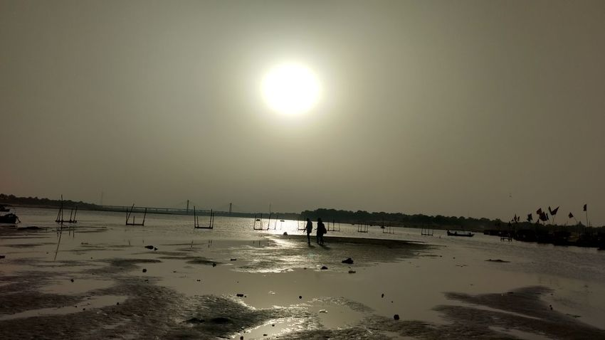Sangam River Ganga Sunset View Nature Sky Sun🌅 Outdoors Beauty In Nature Close-up