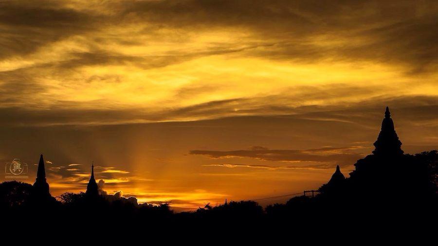 Landscape Siluet Temple Sky