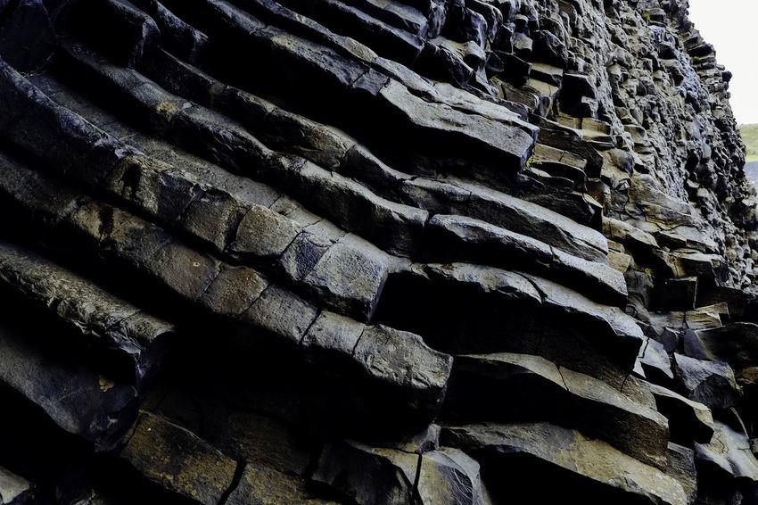 Basalt rock. Basalt Rock Formations Iceland Perspectives On Nature Basalt Columns Basalt Formations Basalt Rock Basaltic Rock History Iceland Trip Nature No People Outdoors Textured  EueEm Nature Lover EyeEm Nature Lover Rock - Object EyeEm Gallery EyeEm Best Shots - Nature Instagram - @sonjabelle