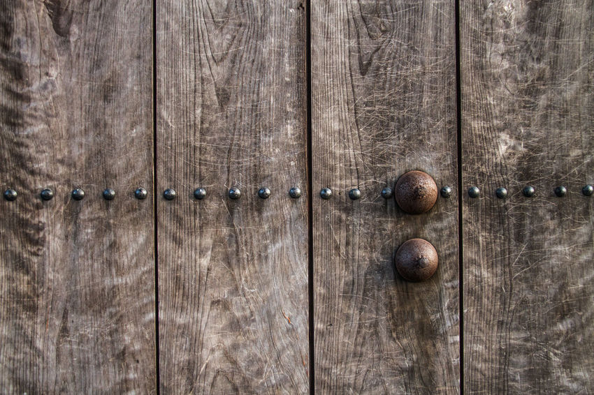 Ancient Backgrounds Brackets Close-up Door Full Frame Japan Metallic No People Outdoors Plank Textured  Weathered Wood - Material Wood Grain