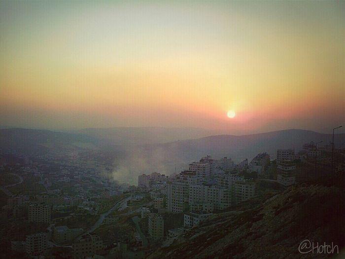 Sunset at Sky Nablus in Nablus, Palestine