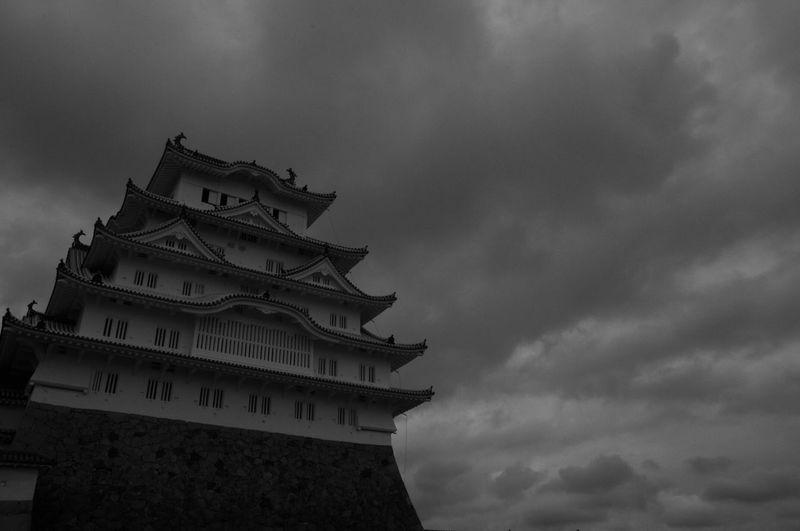 Chastle Himeji Castle Himeji Blackandwhite Black And White Clouds And Sky Monochrome Black & White Japan Traditional