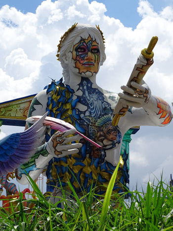 ezefer Art Arts Culture And Entertainment ArtWork Carnaval Carnaval2017sp Carnival Day Human Representation Low Angle View No People Outdoors Scarecrow Sky Statue Sword Tradition