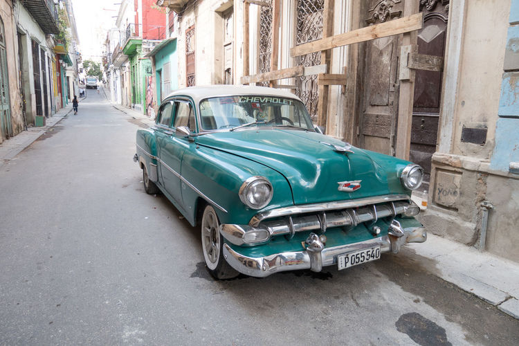 Cuba Havana Architecture Building Exterior Built Structure Car City Day No People Old-fashioned Outdoors Retro Styled Street Transportation