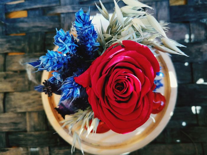 Flower Head Flower Bouquet Red Rose - Flower Vase Petal Close-up
