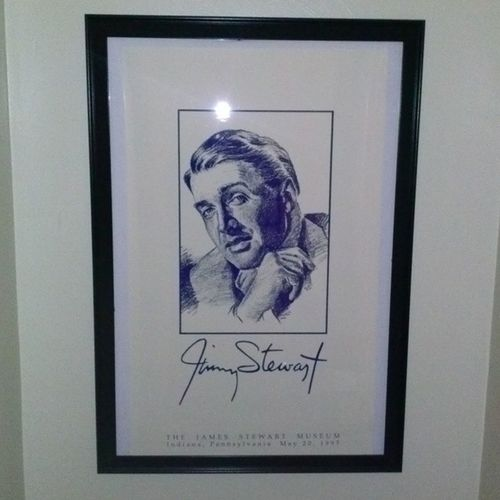 New poster at the end of the hallway JimmyStewart Jamesstewart IndianaPa