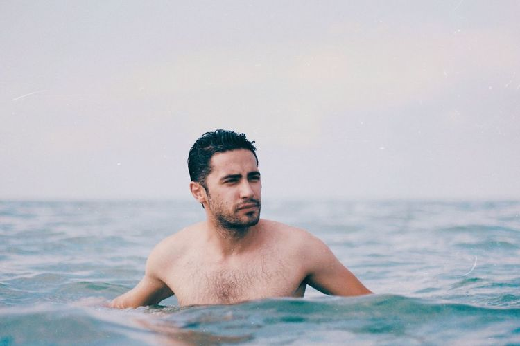 Last days of summer EyeEm Selects Water Shirtless One Person Vacations Trip Holiday Sea Men Young Men Summer Outdoors Horizon Over Water Nature