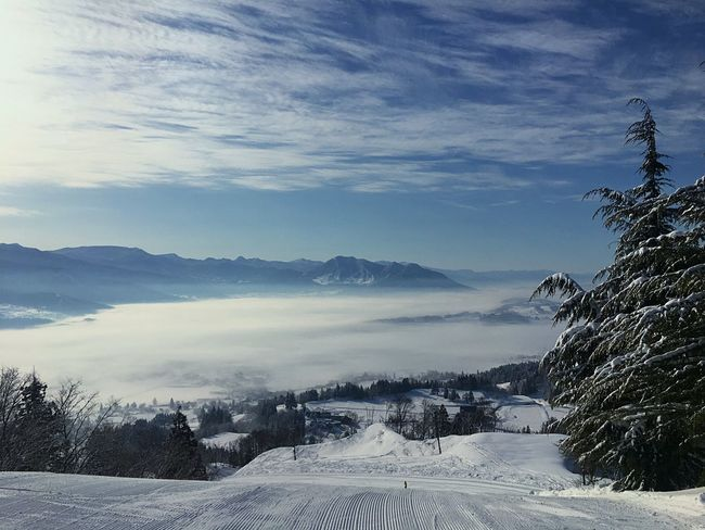 This is one of the favorite photo where I took in Nagano pref in Japan Snow Winter Cold Temperature Mountain Sky Beauty In Nature Nature Landscape Cloud - Sky Scenics Mountain Range Tree Tranquil Scene Outdoors No People Day Ski Holiday Skiing Japan Photography Japan Miles Away