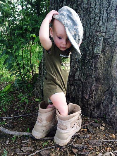 Capturing Freedom Babyboy Kai Daddys Boots Army Military Life