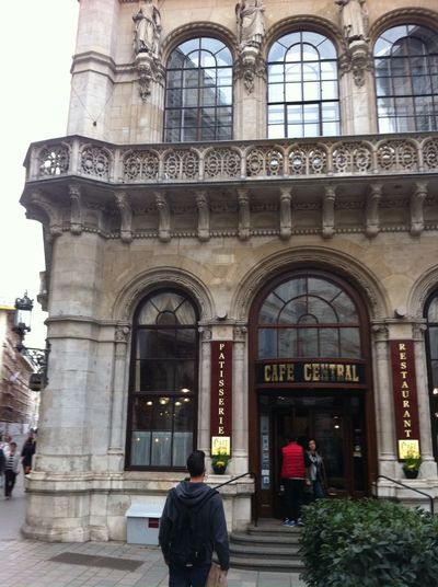 Architecture Building Exterior Cafe Central Entrance Historic Patisserie Restaurant Vienna