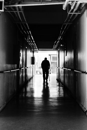 Monochrome Photography Elderly Elderlyman House Years Blackandwhite Monochrome Photo Walking Light At The End Of The Tunnel Rear View Silhouette The Way Forward Day Eventidehome First Eyeem Photo Turkey The First Eyeem Photo Welcomeweekly