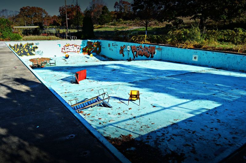 Abandoned Places Empty Places Empty Pool No People Swimming Pool Water