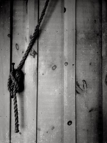 IPhoneography Monochrome Blackandwhite Rope Full Frame No People Backgrounds Weathered Close-up Architecture