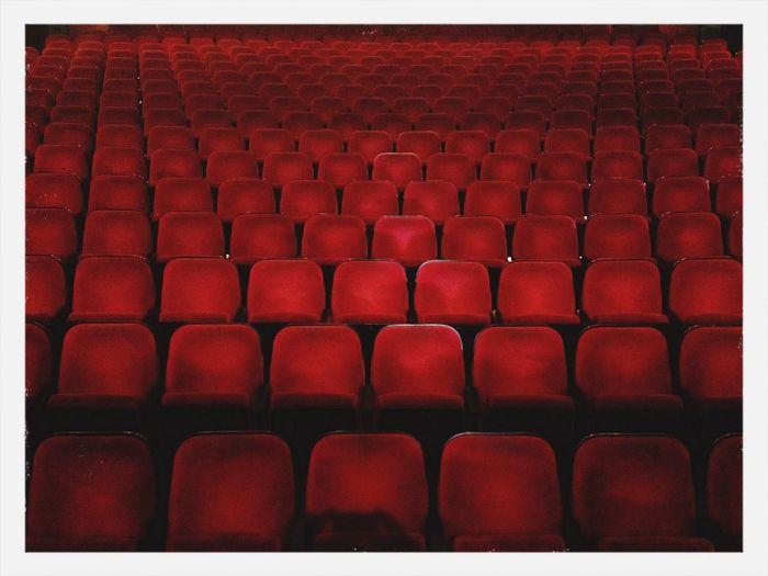 Today's shoot location. Theater Berlin ThePaulGreen  Red Chairs thepaulgreen.com